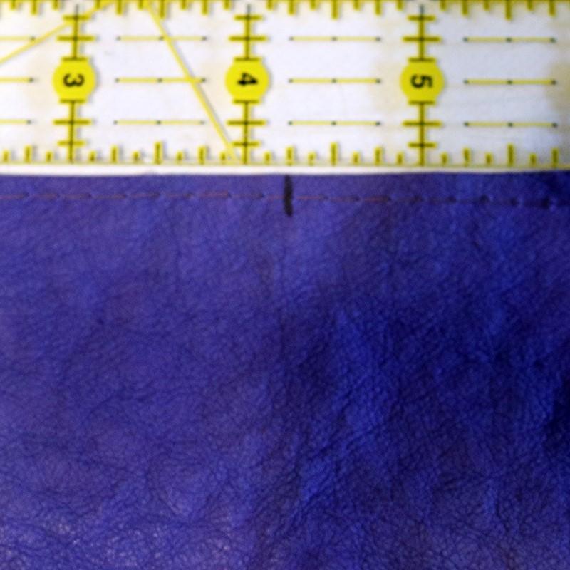 Mark top edge center of case