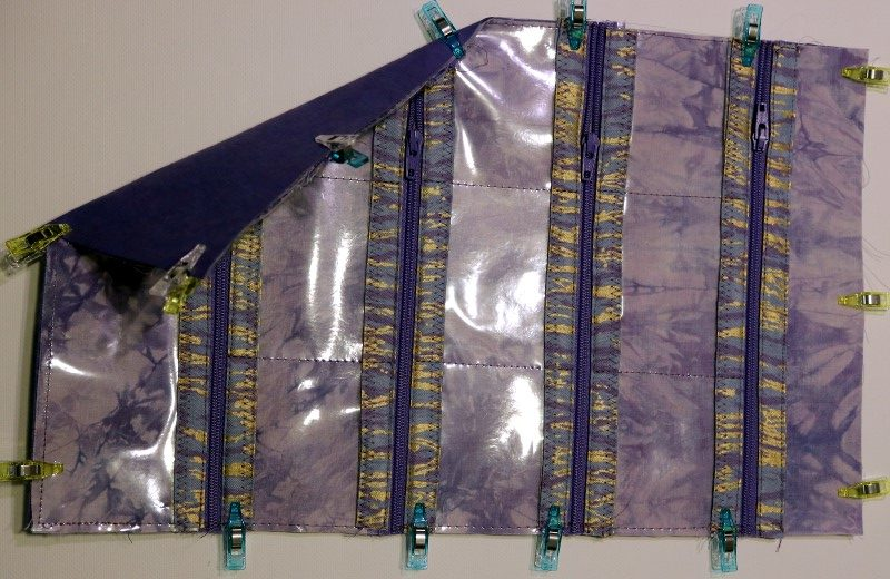 Clip lining to cover