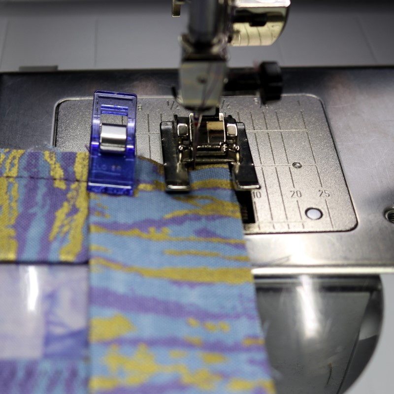 Miter corners - fold down and stitch