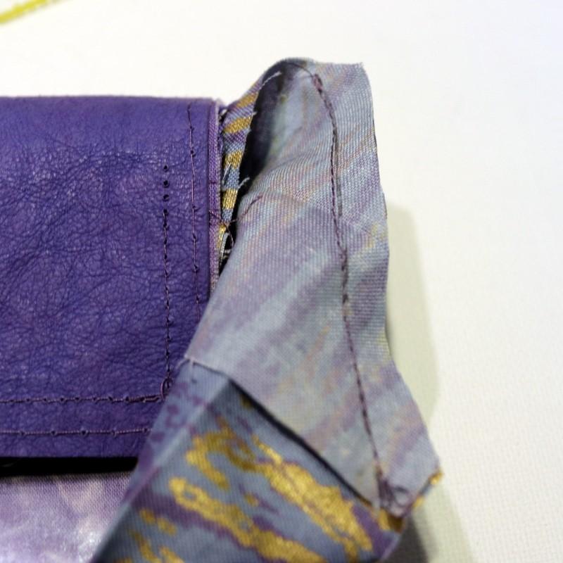 Stitch, trim, finger press open