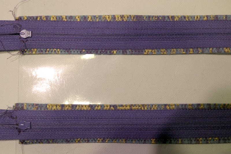From back zigzag catches zipper tape