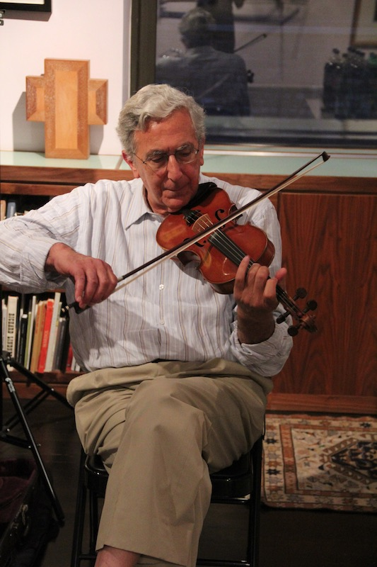 Alan Jabbour playing fiddle at Quilters Take Manhattan 2012