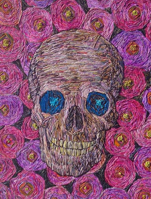 Skull Roses by Irene Schlesinger