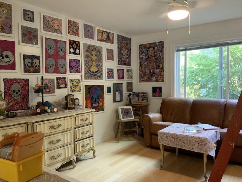 Irene's living room studio