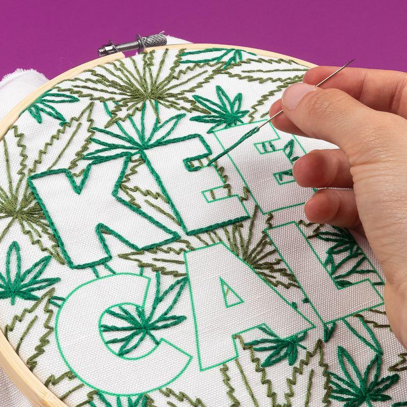 Keep Calm embroidery hoop art