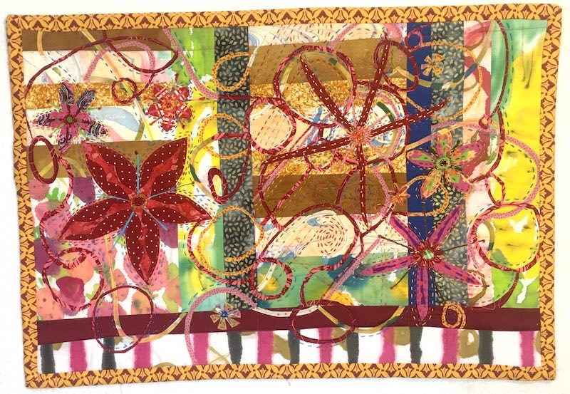 Persian Dust Storm art quilt