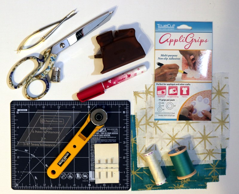 Supplies for EPP star ornament