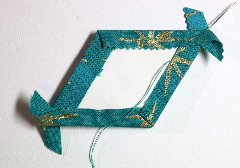 Bury knot in fold