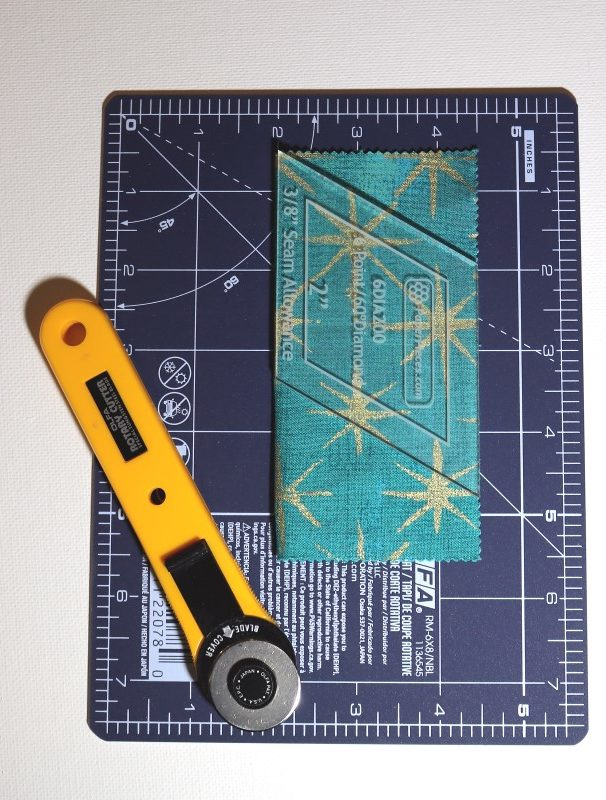 Place template on fabric for cutting