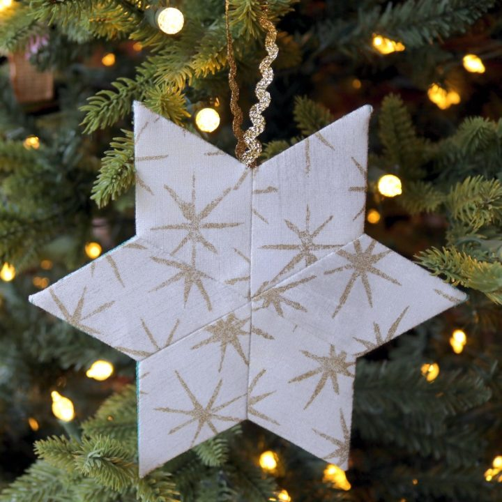 White EPP star on tree