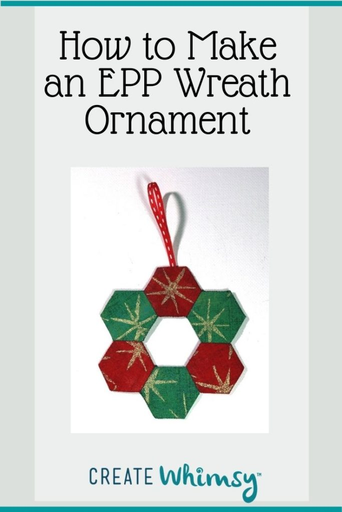 English Paper Pieced Wreath Ornament Pinterest Image 1