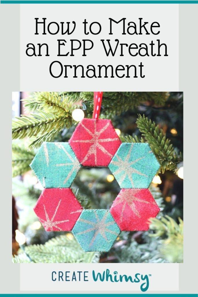 English Paper Pieced Wreath Ornament Pinterest Image 2