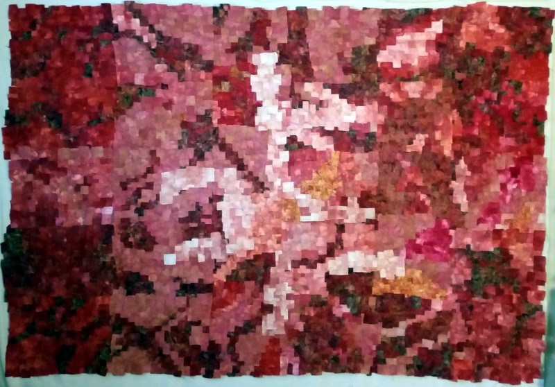 Red and pink quilt