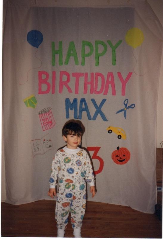 Max sheet at age 3