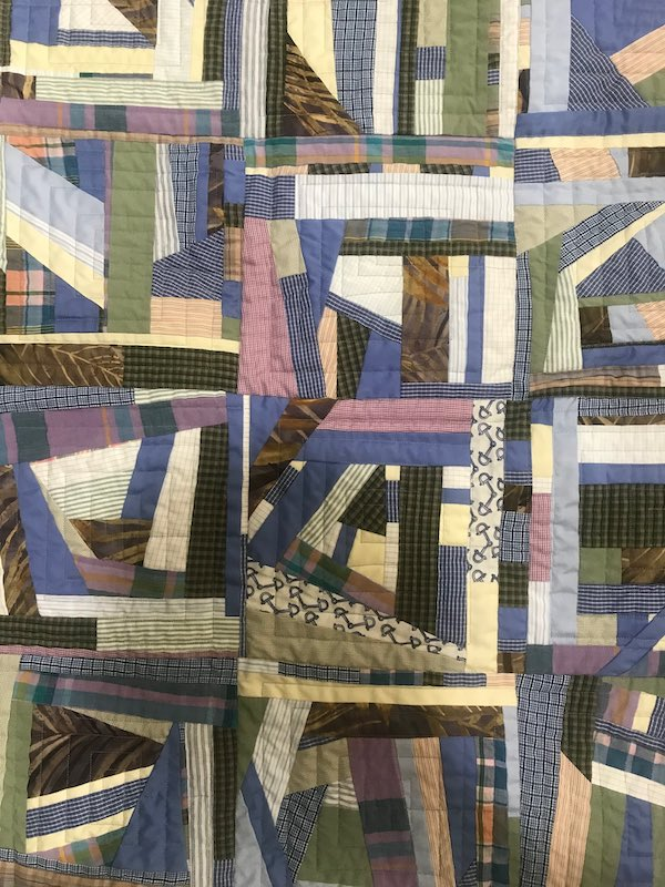Quilt made from mens shirts
