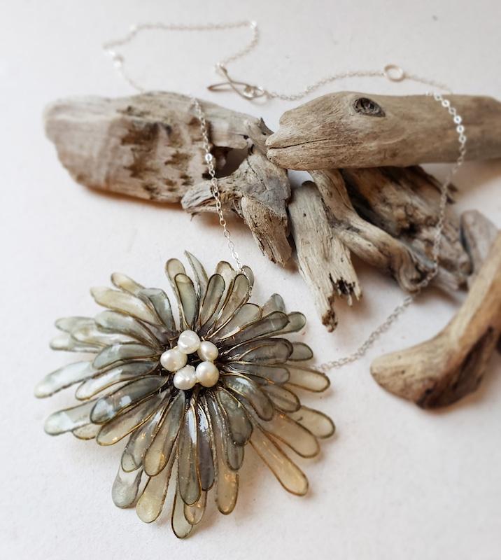 Melanie Brauner Chrysanthemum necklace