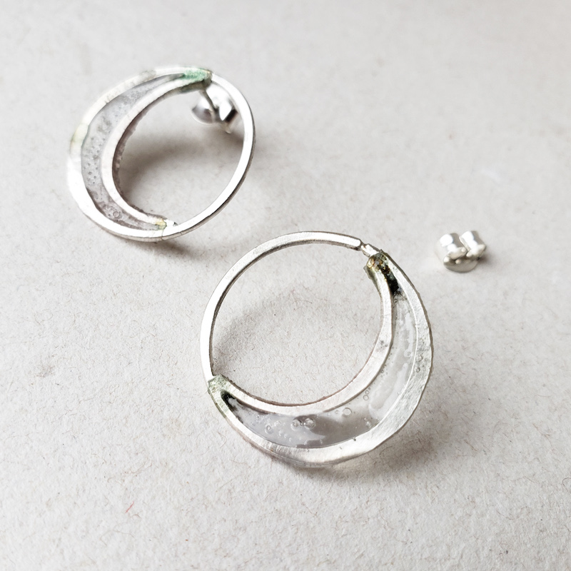 Melanie Brauner Crescent Moon earrings