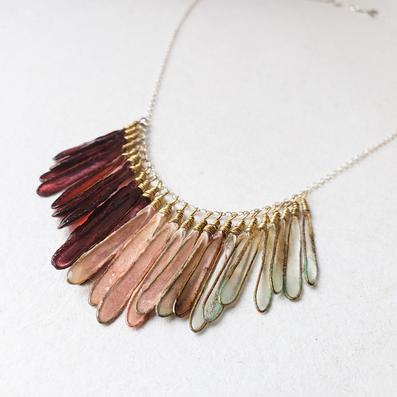 Melanie Brauner Dragon fly ombre necklace