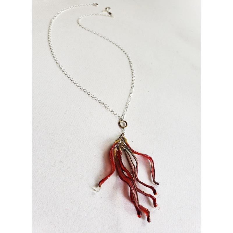 Melanie Brauner red petal drop neclace