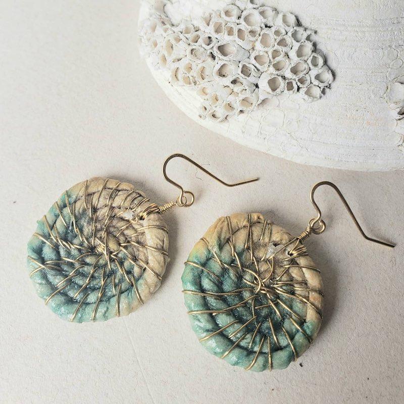 Melanie Brauner fiber and metal earrings