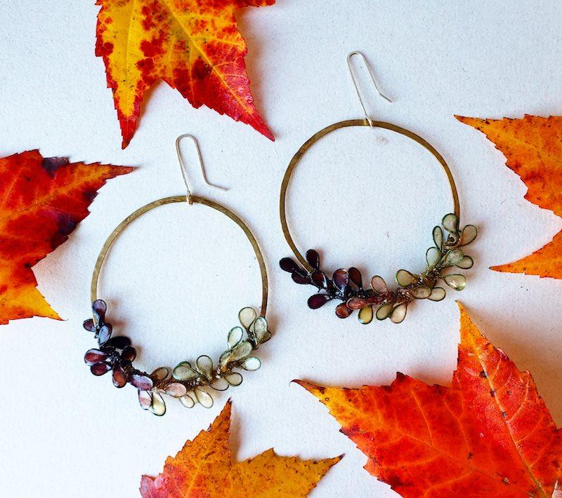Melanie Brauner Brass ombre earrings