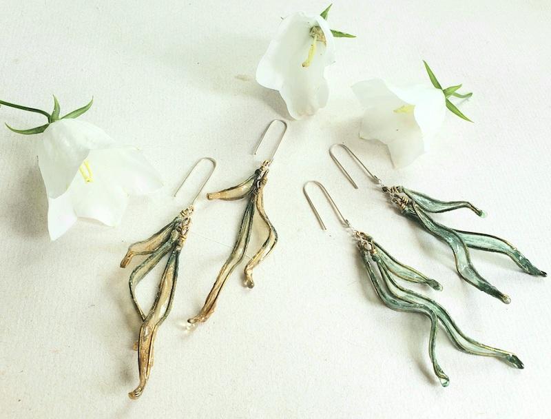 Melanie Brauner Petal drop earrings