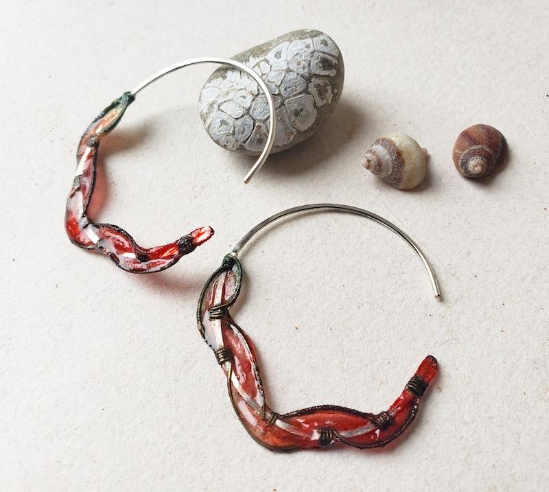 Melanie Brauner Sea Fan coral earrings
