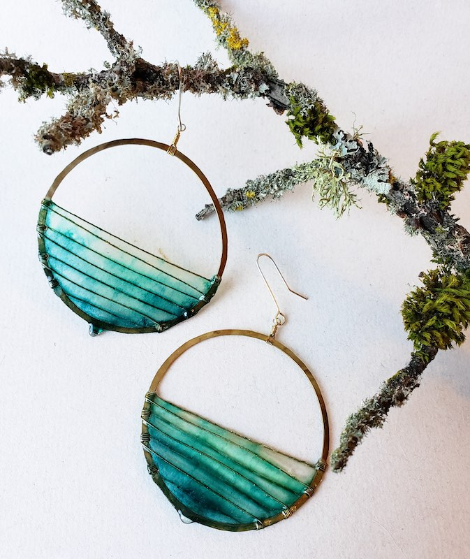 Melanie Brauner Sunrise brass earrings