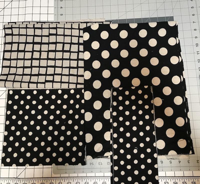 Fabric cut to make apron