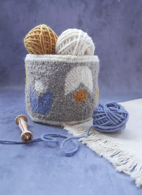 Needle punch yarn bowl