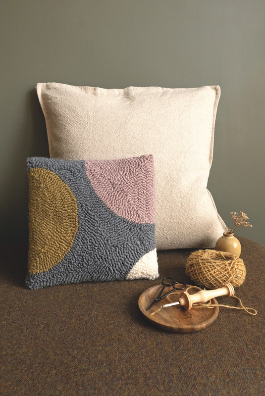 Needle punch pillow
