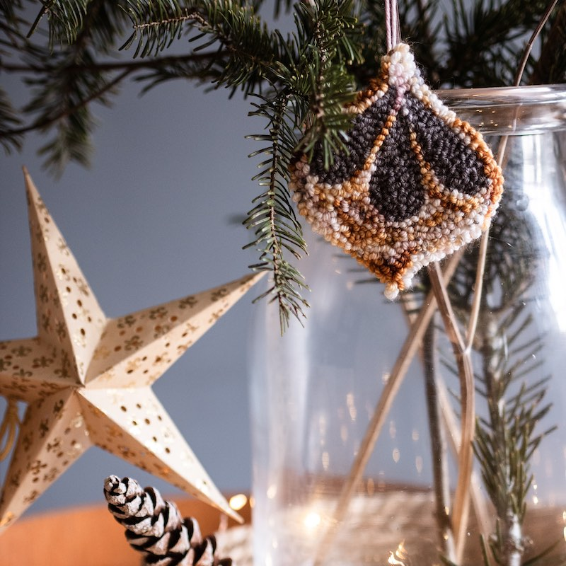 Needle punch ornaments