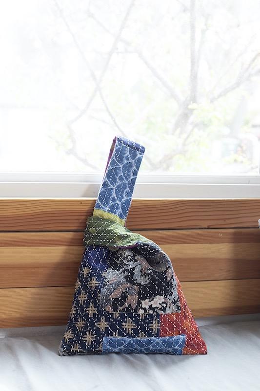 Knot sashiko bag