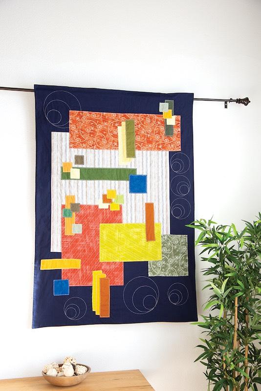 Sashiko quilt hanging