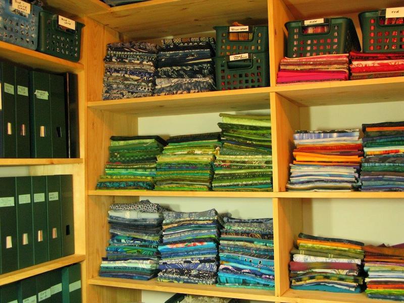 Millie's organized fabrics