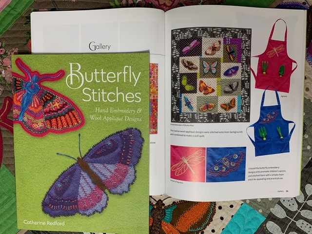 Butterfly stitches inside book