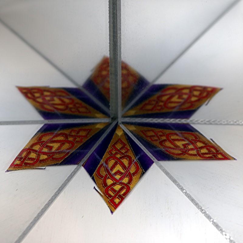 EPP Moravian Star-13-Mirror test on stitch lines