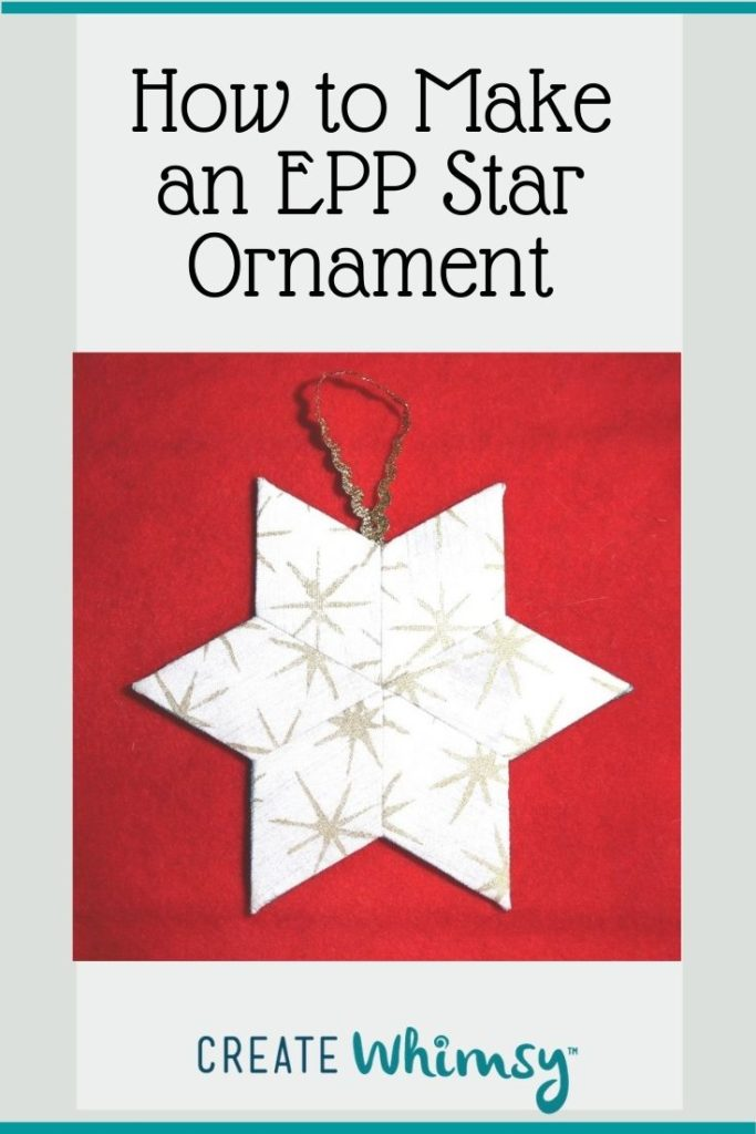 English Paper Pieced Star ornament Pinterest 1