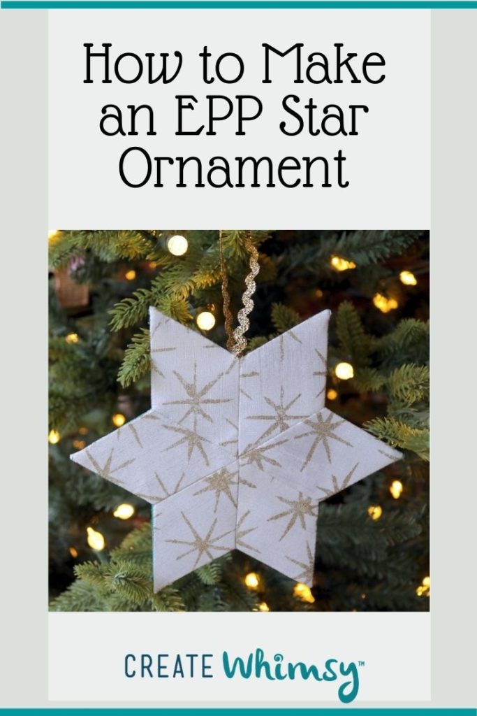 English Paper Pieced Star ornament Pinterest 2