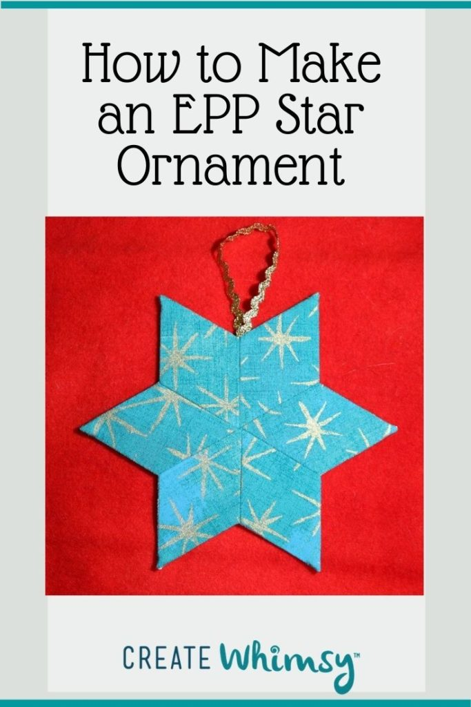English Paper Pieced Star ornament Pinterest 3