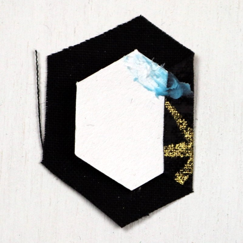 EPP Tree-Shaped Ornament with Hexies-5-Glue on second side