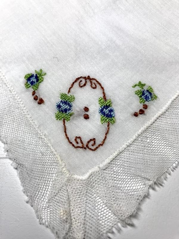 Embroidery Flower Satin stitch Back stitch Cross stitch
