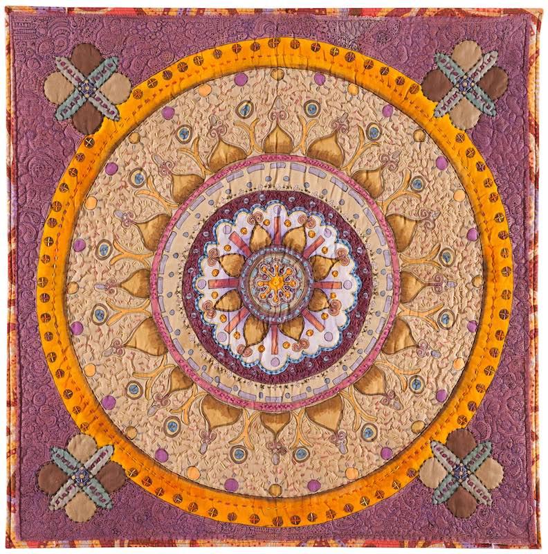 Kashmir art quilt