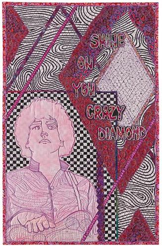 Shine On You Crazy Diamond art quilt