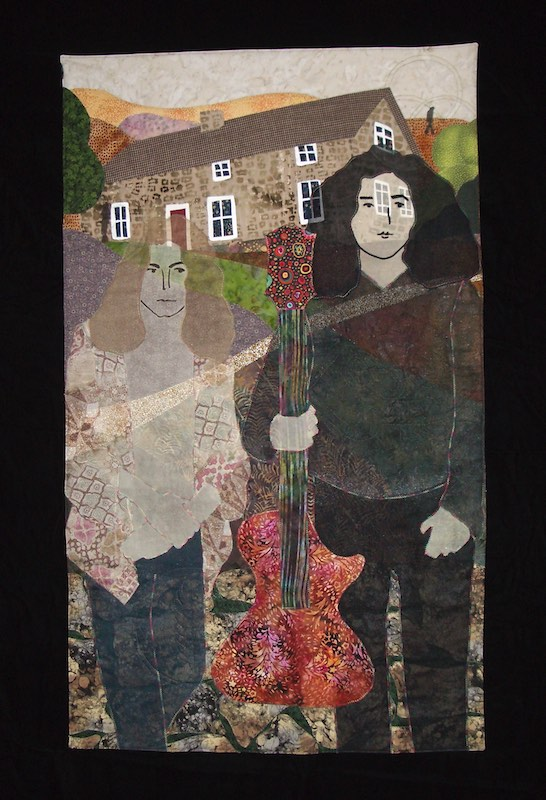 Thred Zeppelin art quilt