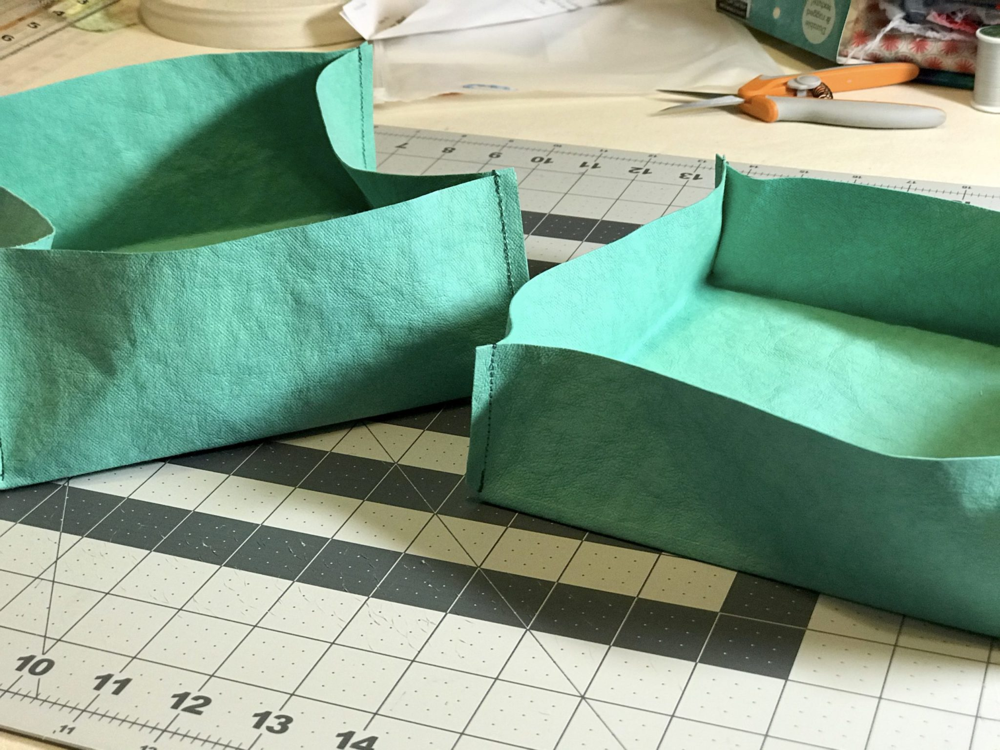 Finished Kraft tex box with lid