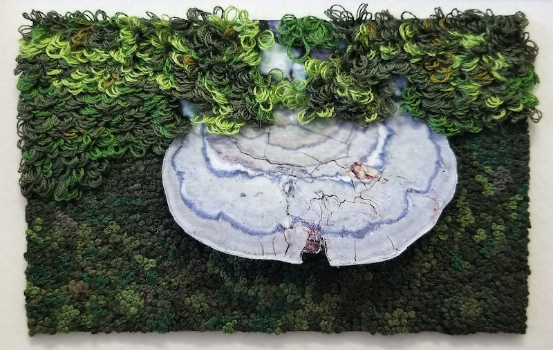 Moss embroidery by Michele Pollock
