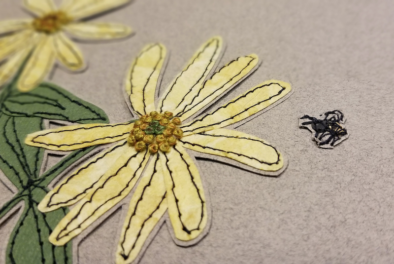 DETAIL 1: Summer, paper embroidery by Michele Pollock