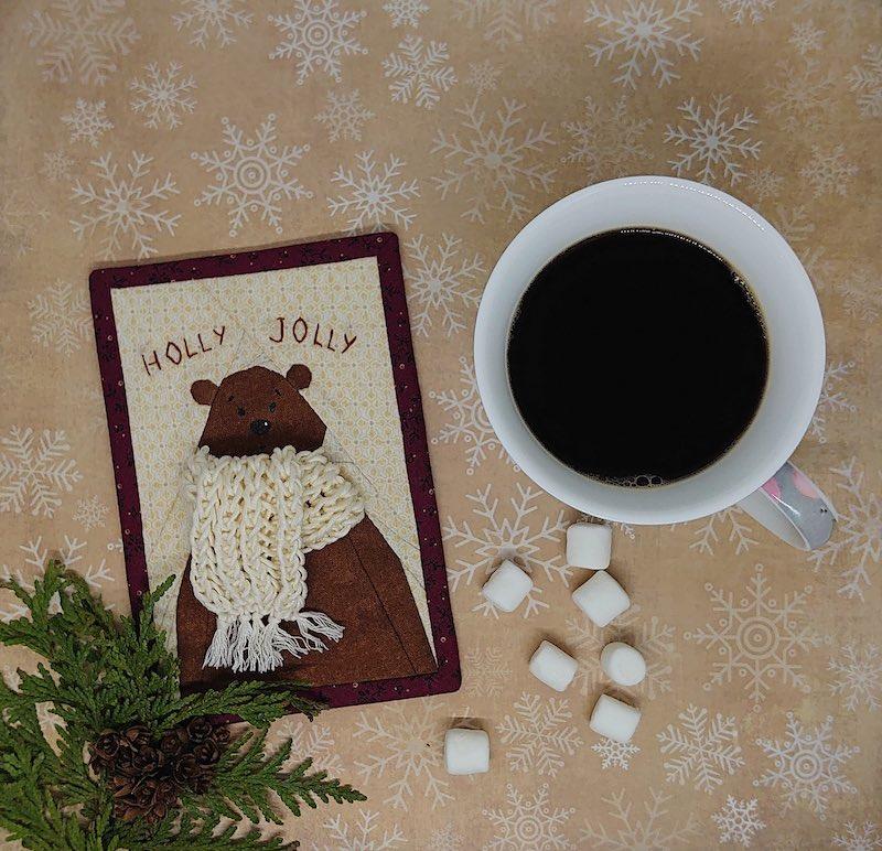Holly Jolly mini quilt