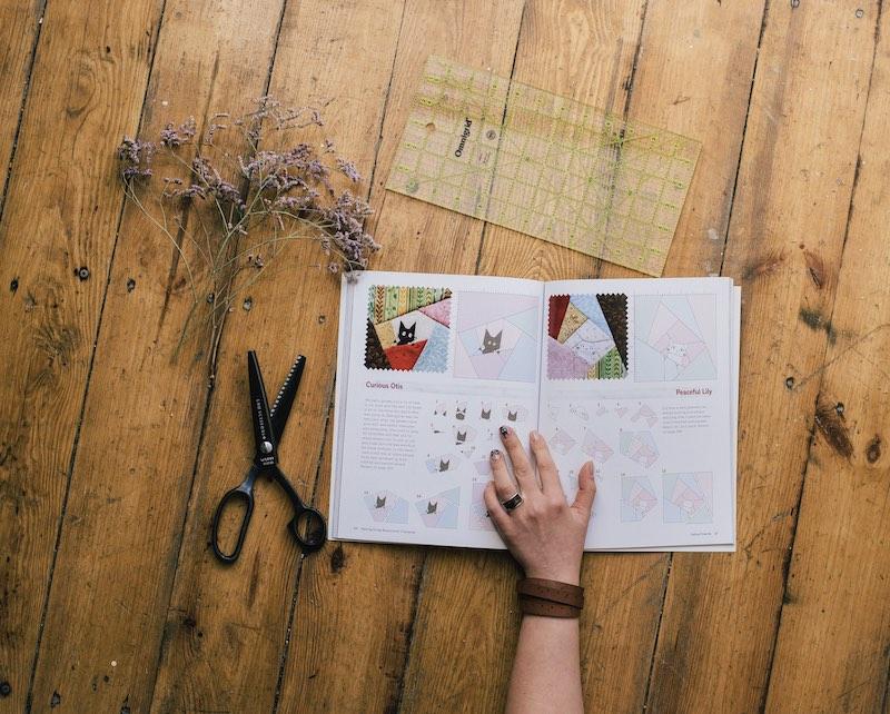 Inside Olesya's book Sewing Scrap Characters